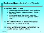customer need application of results
