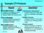 example cti products