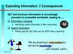 exploding information 2 consequences