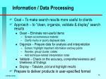 information data processing