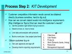 process step 2 kit development