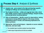 process step 4 analysis synthesis