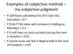 examples of subjective method my subjective judgment