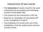 intersection of two events