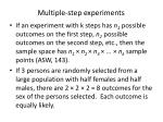 multiple step experiments