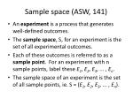 sample space asw 141
