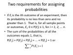 two requirements for assigning probabilities