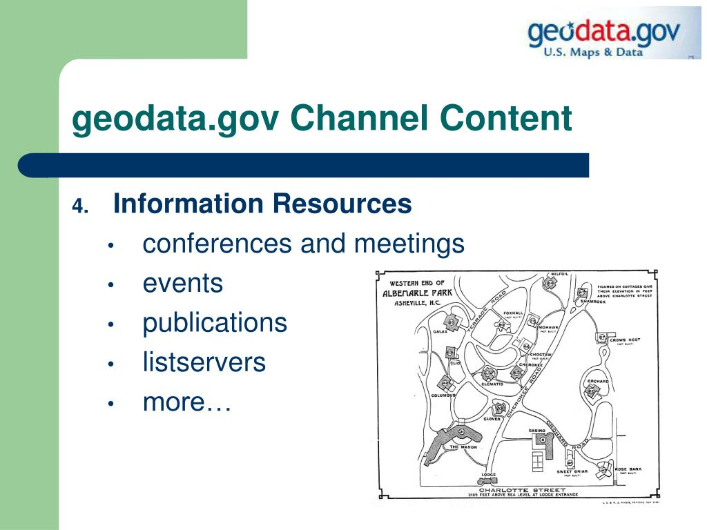 geodata.gov Channel Content