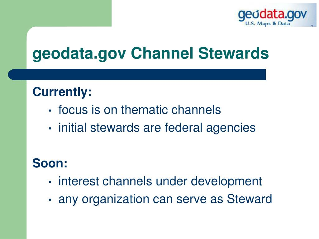 geodata.gov Channel Stewards