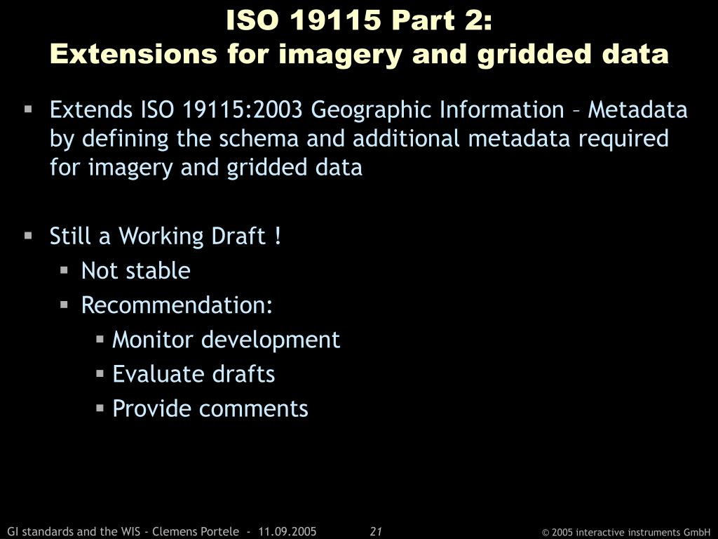 ISO 19115 Part 2: