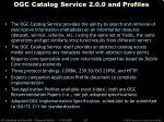 ogc catalog service 2 0 0 and profiles