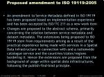 proposed amendment to iso 19119 2005