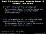 topic b 1 consistency potential issues of the wmo core profile37