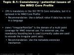 topic b 1 consistency potential issues of the wmo core profile38