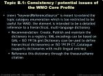 topic b 1 consistency potential issues of the wmo core profile39