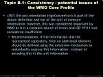 topic b 1 consistency potential issues of the wmo core profile40