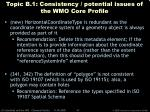 topic b 1 consistency potential issues of the wmo core profile41