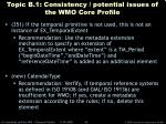 topic b 1 consistency potential issues of the wmo core profile42
