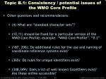 topic b 1 consistency potential issues of the wmo core profile45
