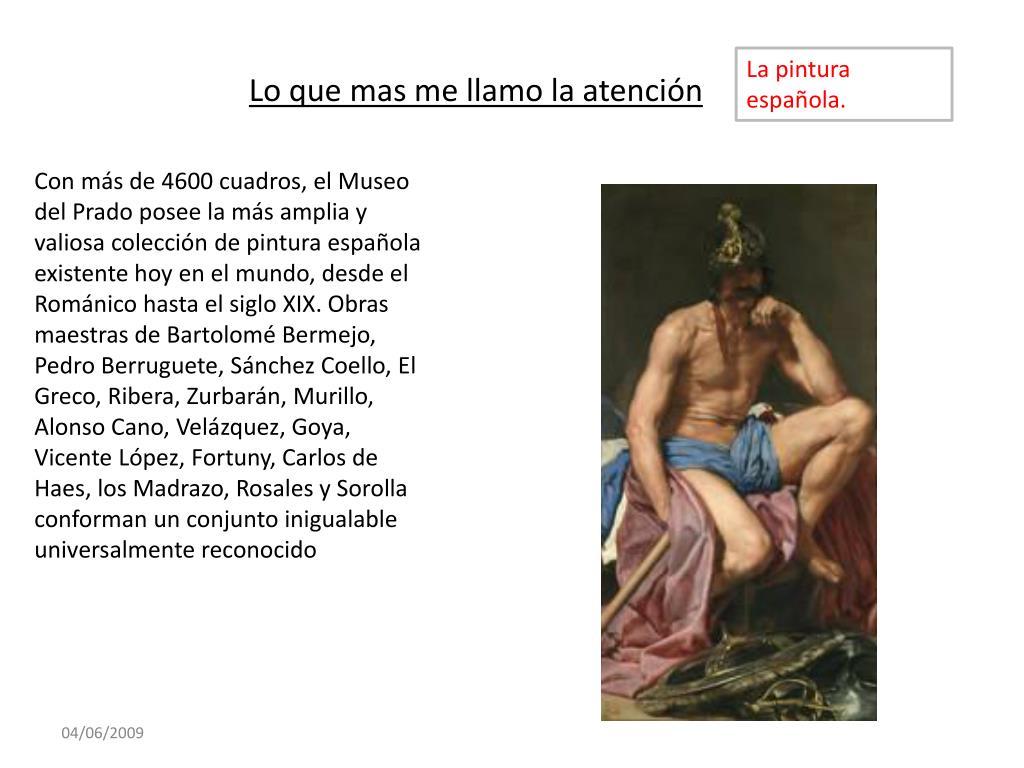 La pintura española.