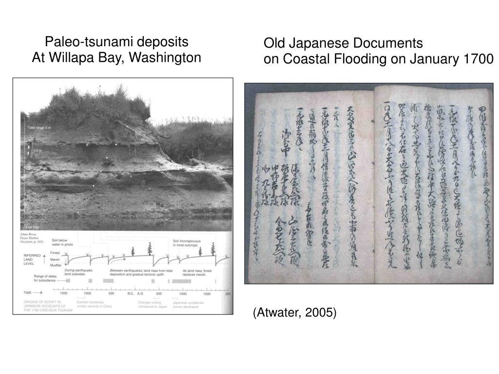 Paleo-tsunami deposits
