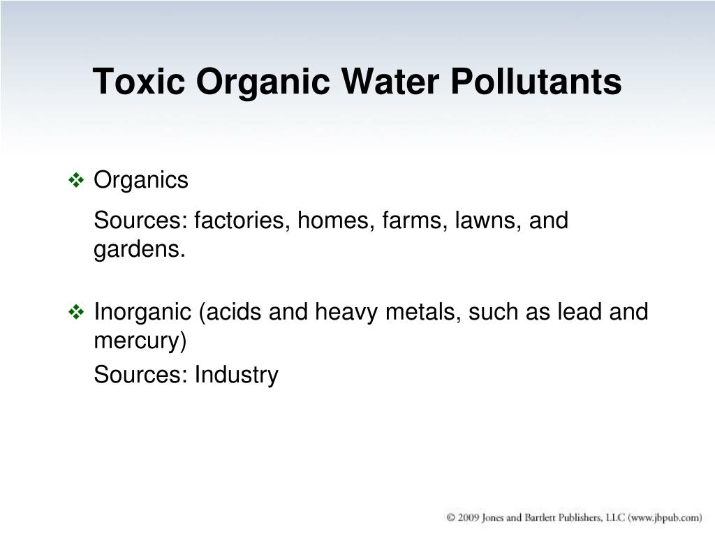Toxic Organic Water Pollutants