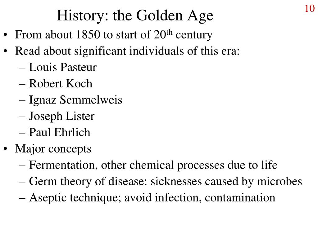 History: the Golden Age