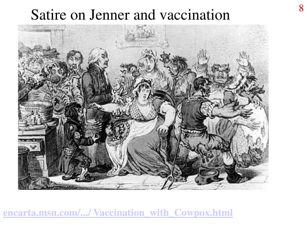 Satire on Jenner and vaccination