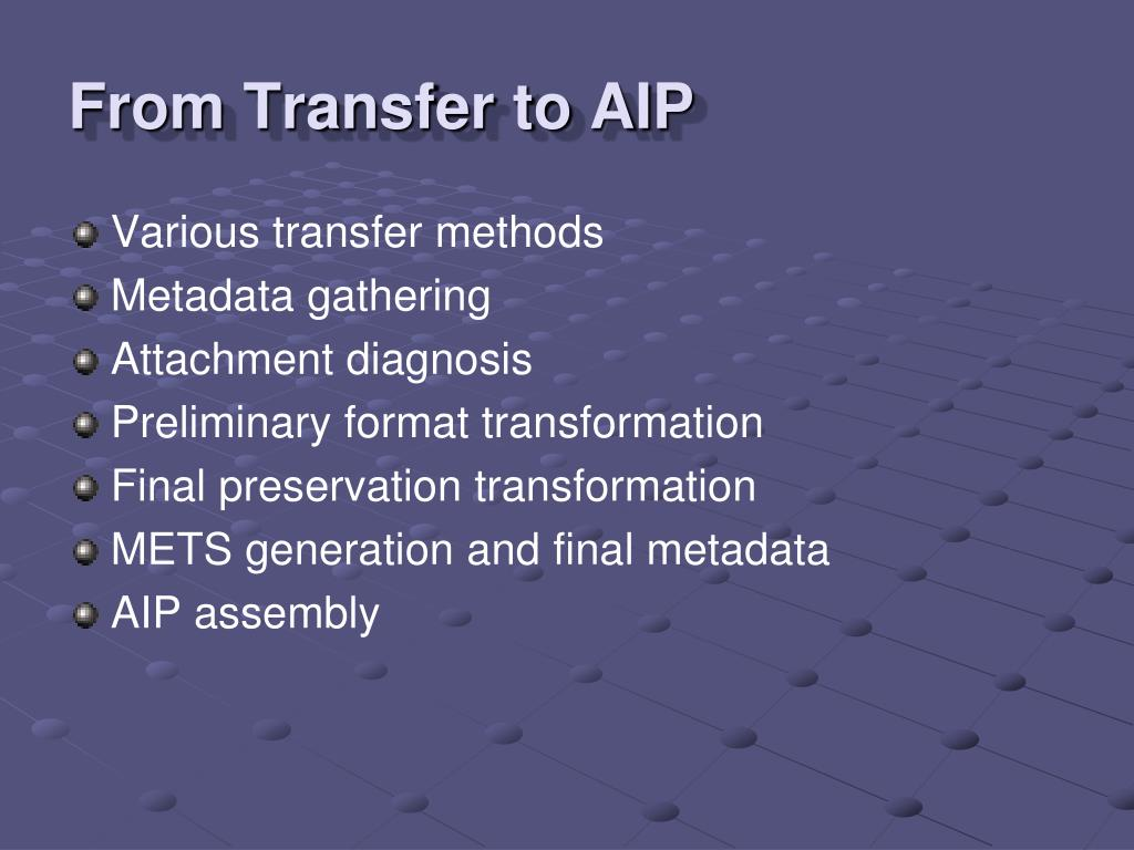From Transfer to AIP