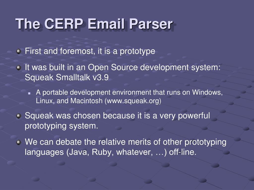The CERP Email Parser