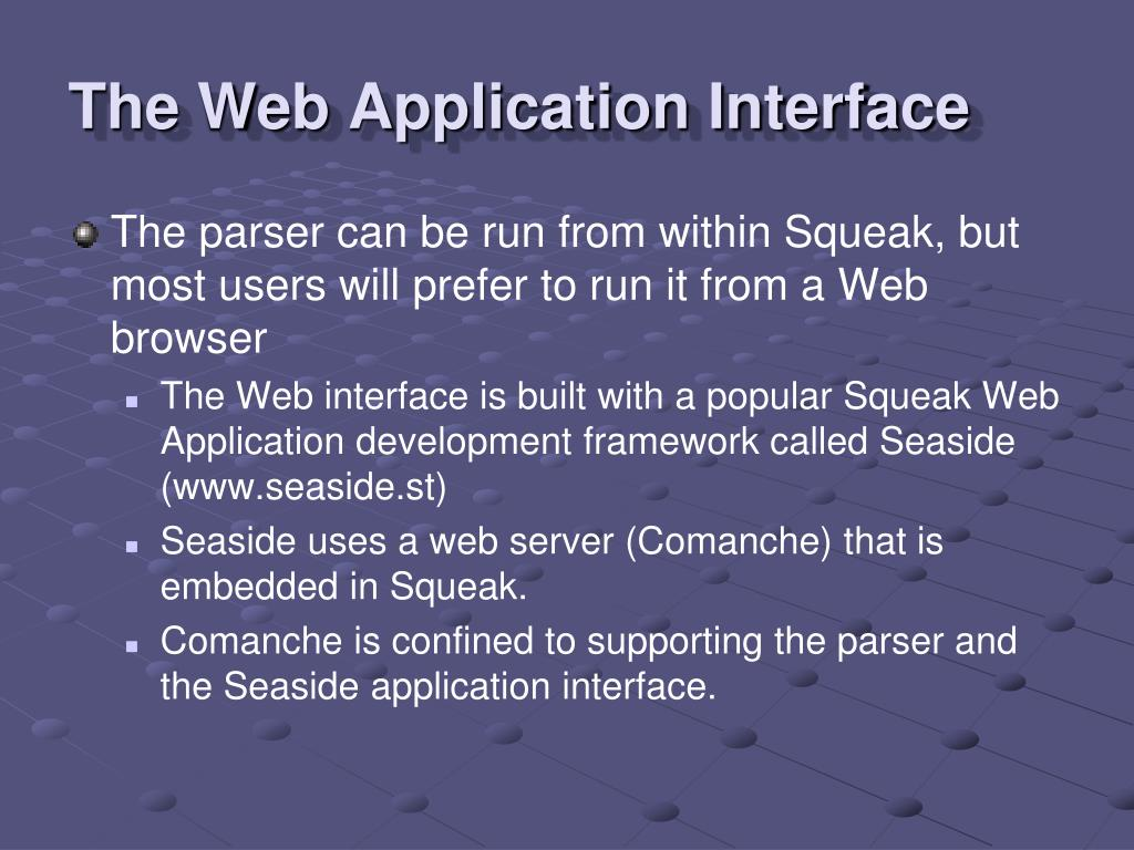 The Web Application Interface