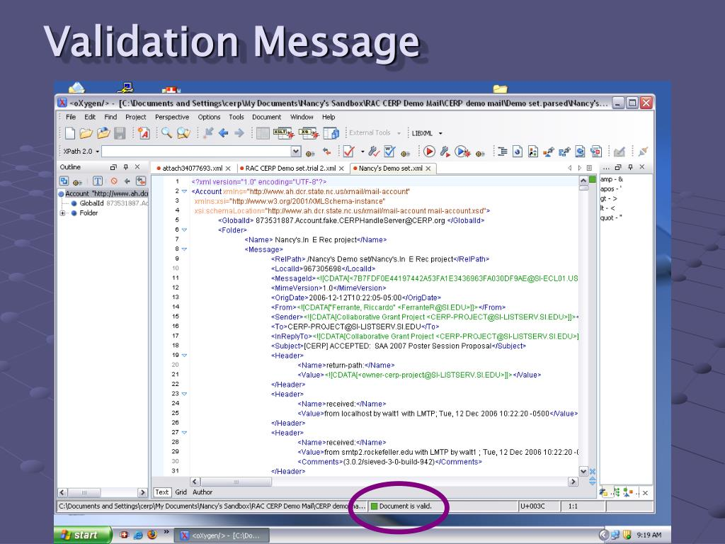 Validation Message