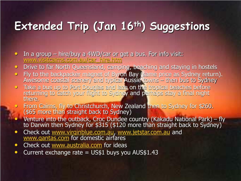 Extended Trip (Jan 16