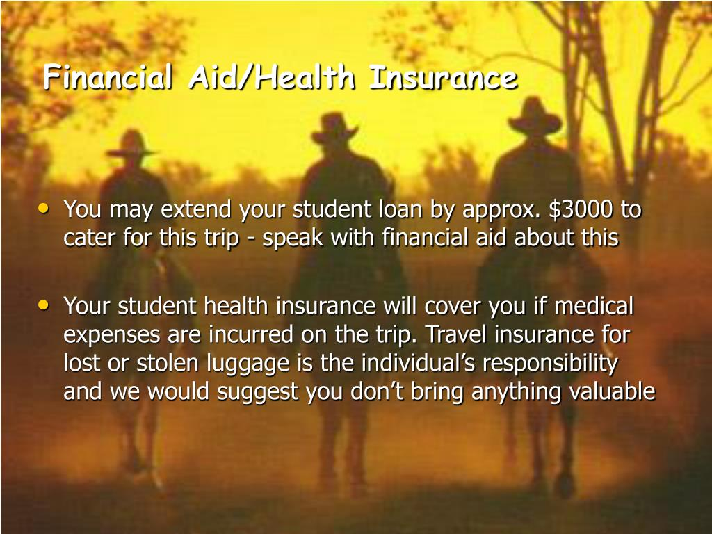 Financial Aid/Health Insurance