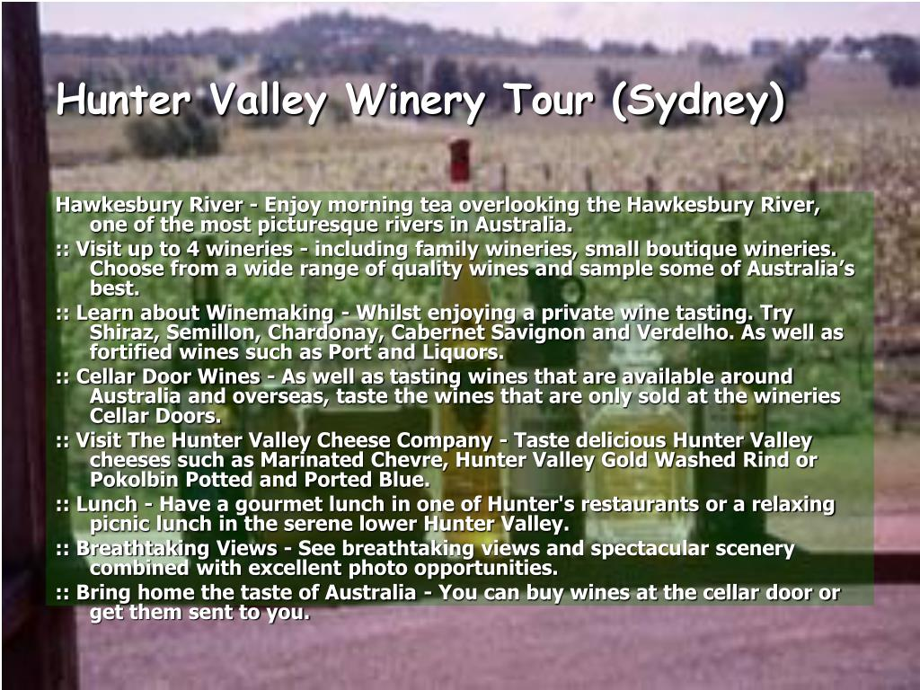 Hunter Valley Winery Tour (Sydney)