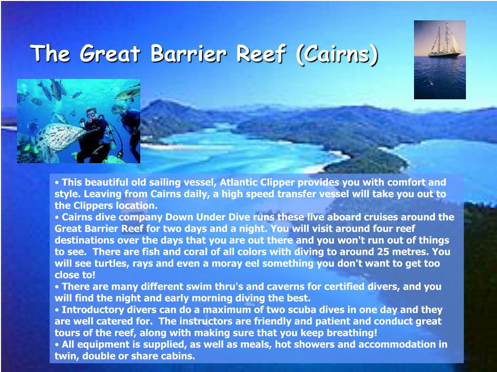 The Great Barrier Reef (Cairns)
