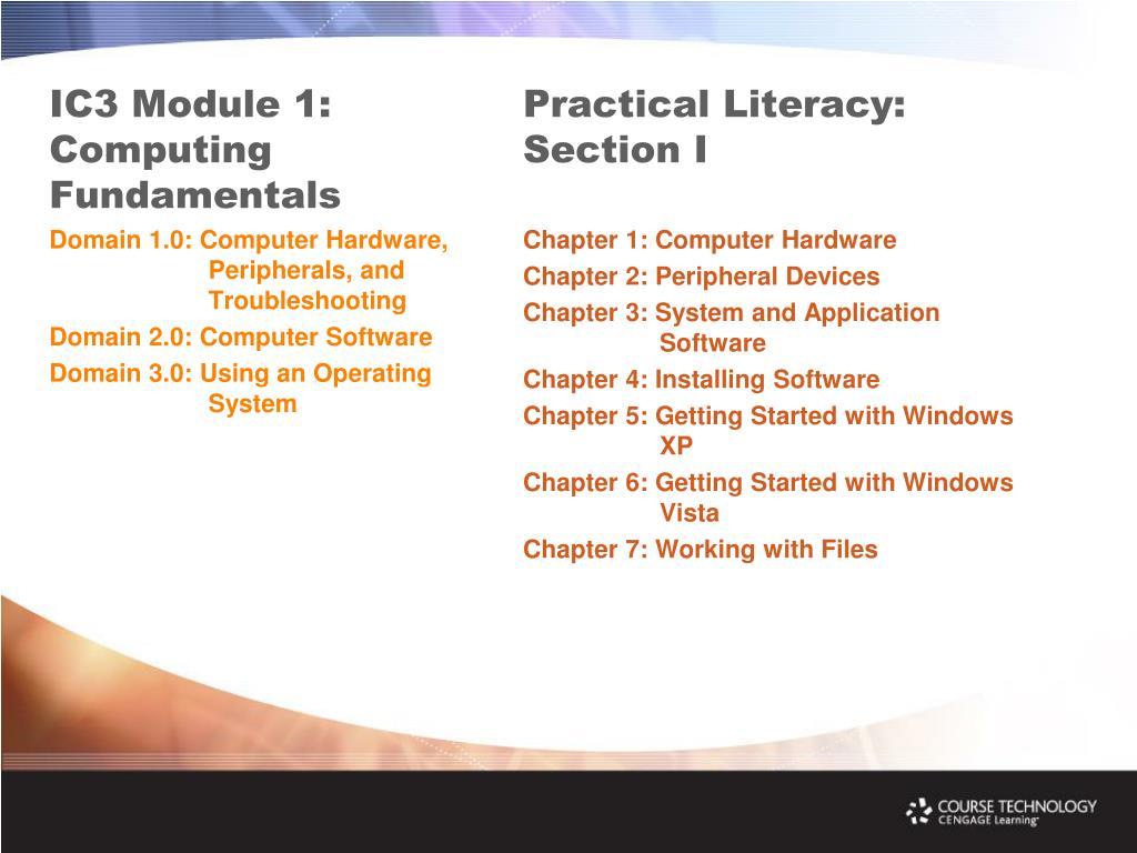 IC3 Module 1: Computing Fundamentals