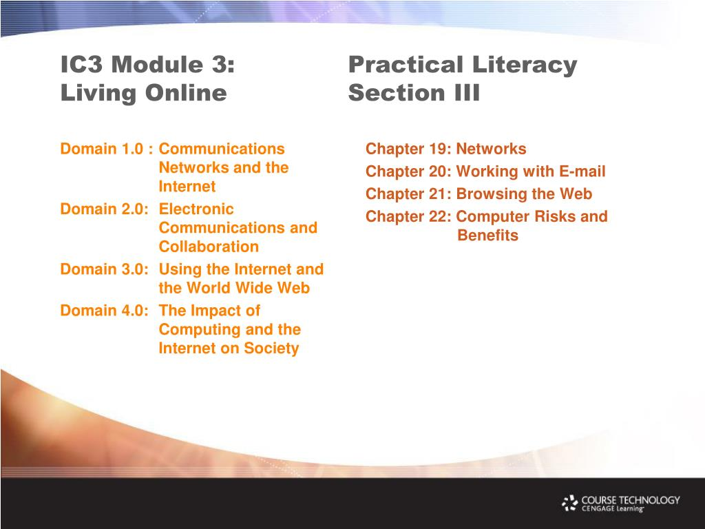 IC3 Module 3: Living Online