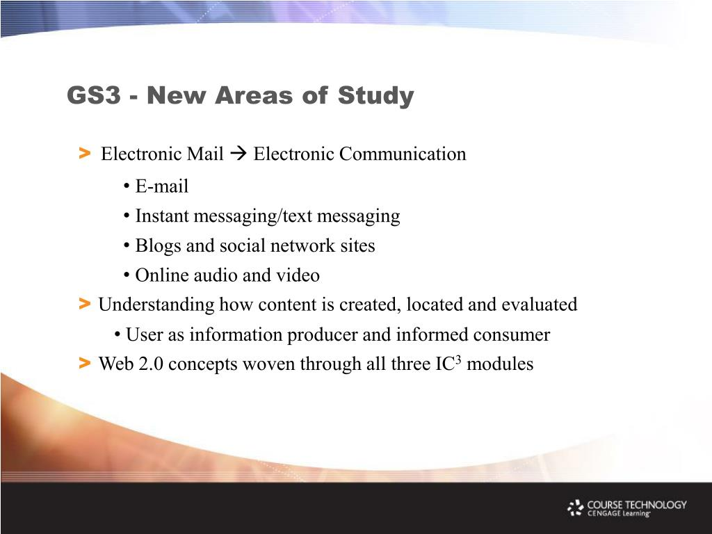 GS3 - New Areas of Study