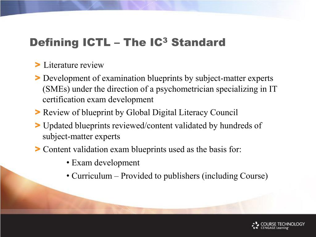 Defining ICTL – The IC