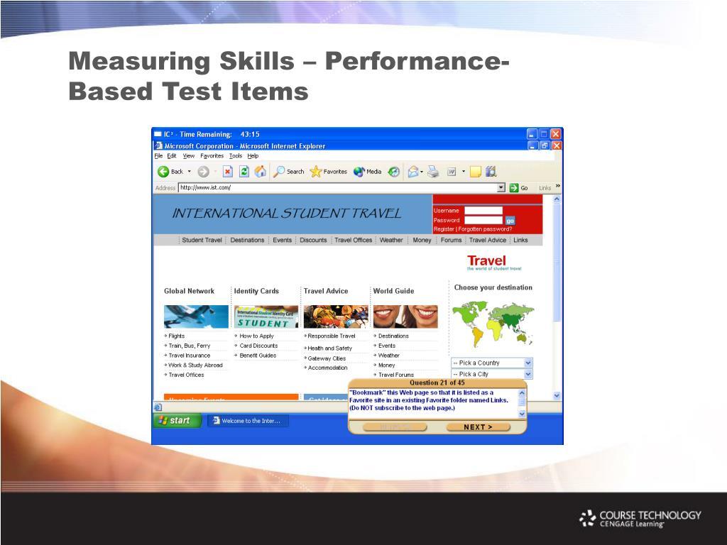 Measuring Skills – Performance-Based Test Items