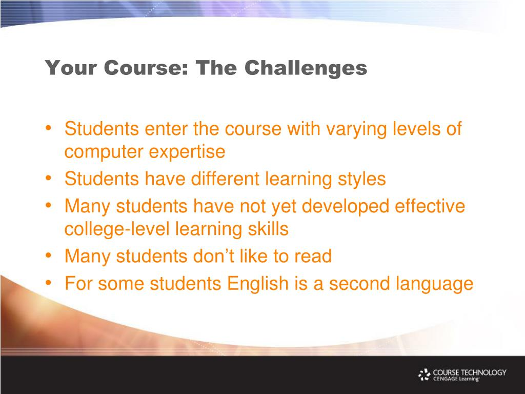 Your Course: The Challenges