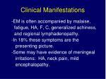 clinical manifestations58