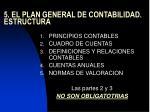 5 el plan general de contabilidad estructura