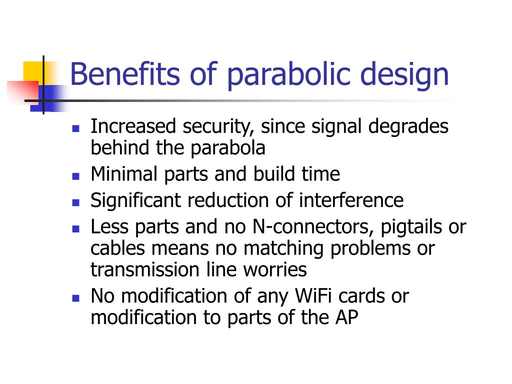 Benefits of parabolic design