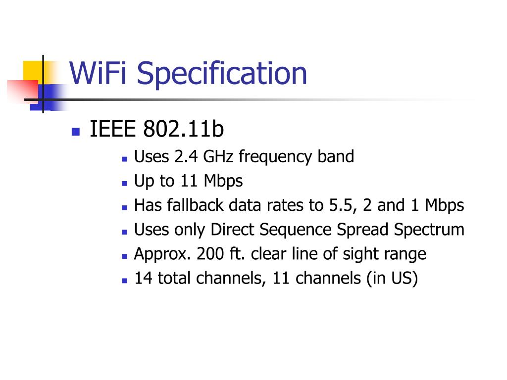 WiFi Specification