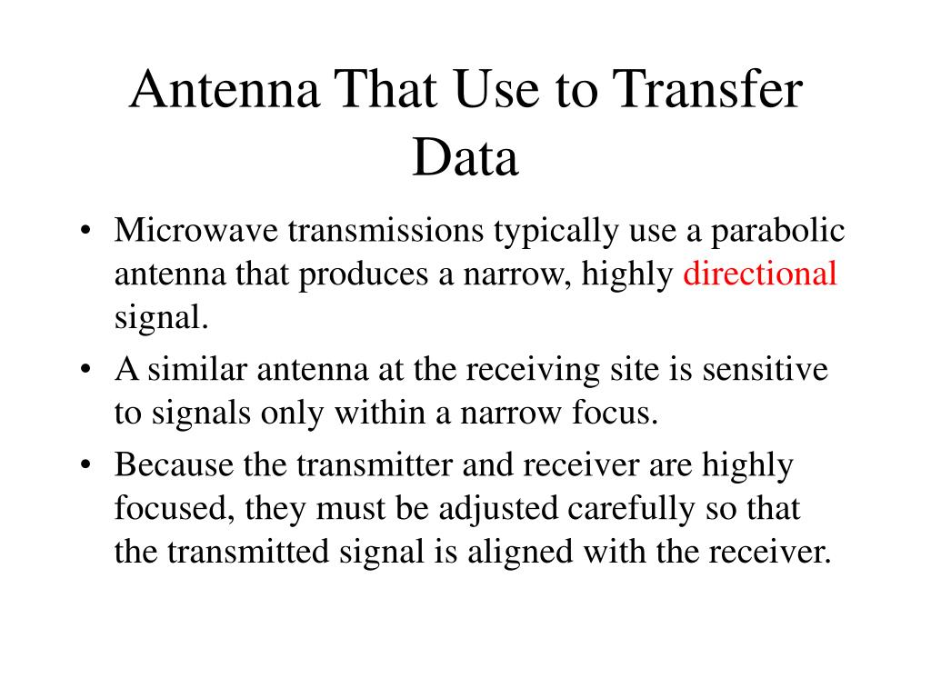 Antenna That Use to Transfer Data