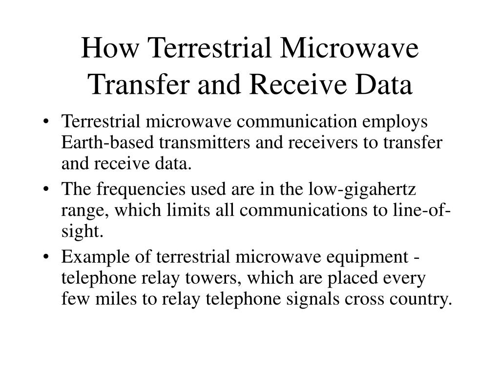How Terrestrial Microwave Transfer and Receive Data