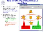 two levels of parallelism by a workflow