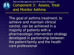 asthma management and prevention program component 3 assess treat and monitor asthma